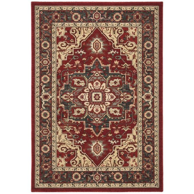 Safavieh Mahal Tangier 9 X 12 Red Creme Indoor Floral Botanical Oriental Area Rug In The Rugs Department At Lowes Com