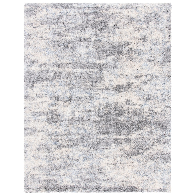 Safavieh Berber Montage Shag 5 X 7 Gray Cream Blue Indoor Abstract Industrial Area Rug In The Rugs Department At Lowes Com