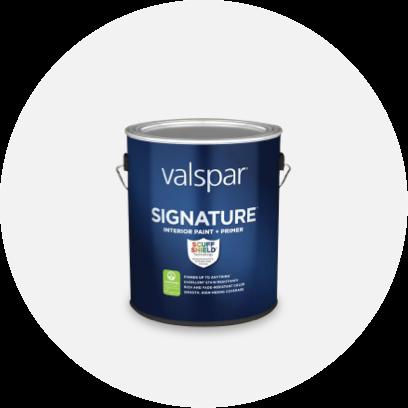 A can of Valspar signature paint.