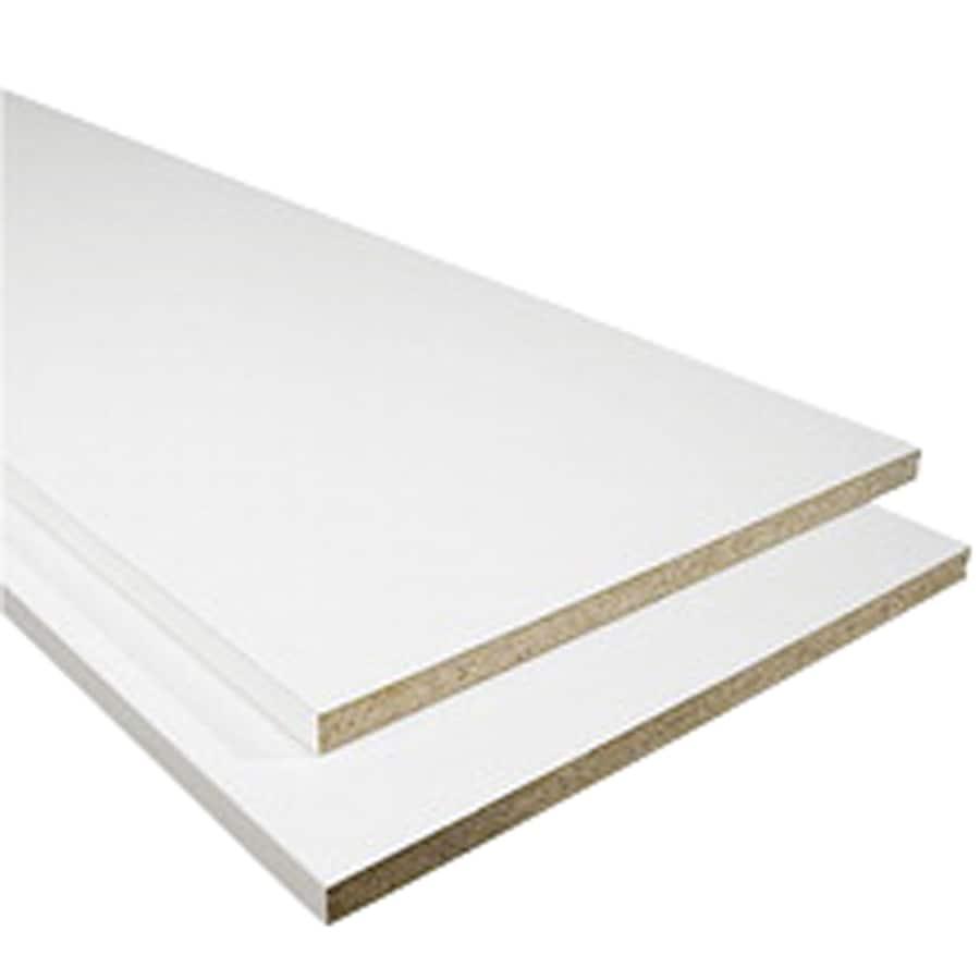 shop 3 4 x 15 1 4 x 8 white melamine square edge shelving at lowes com rh lowes com Melamine Cabinets Lowe's Melamine Cabinets Lowe's