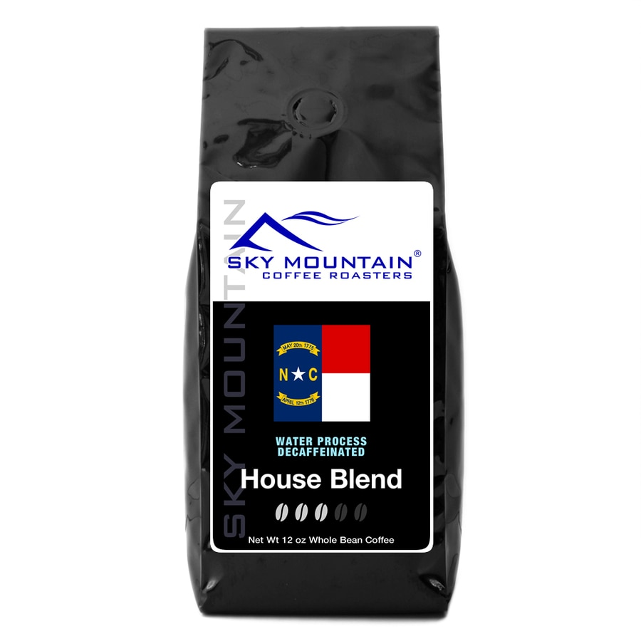 Sky Mountain Coffee Decaf House Blend 12-oz De-Caffeinated Whole Bean Coffee