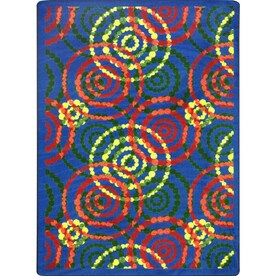 Joy Carpets Dottie 5 X 8 Warm Earth Indoor Geometric Kids Area Rug In The Rugs Department At Lowes Com