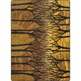 Joy Carpets First Take Goldenrod Indoor Area Rug Common 4 X 5 Actual