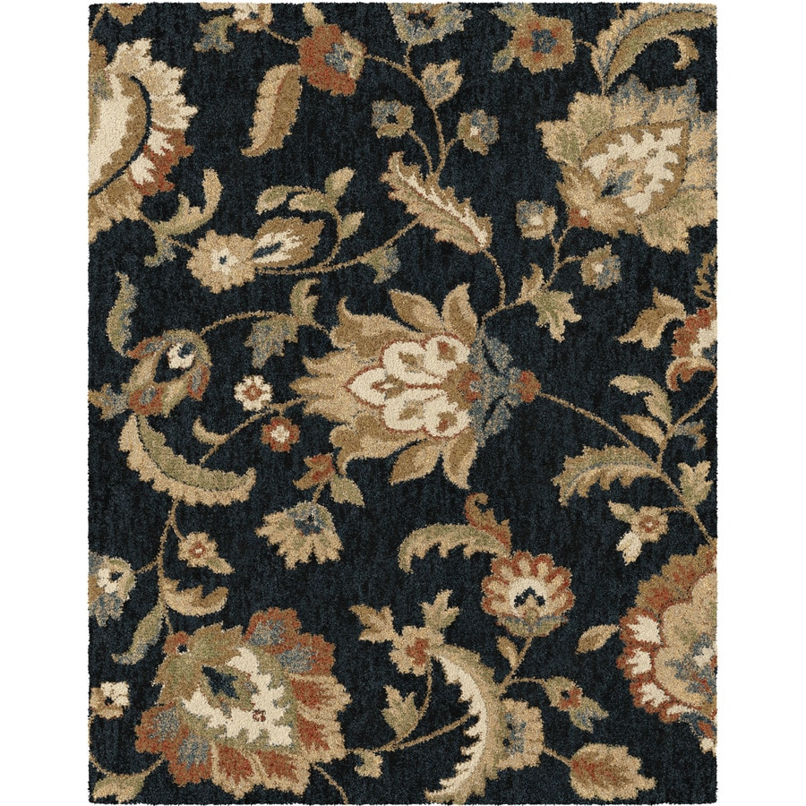 allen + roth Cliffony Dark Denim Rectangular Indoor Machine-made Nature Area Rug (Common: 8 x 10; Actual: 7-ft W x 10-ft L)