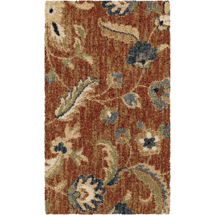 allen + roth Cliffony Red Rectangular Indoor Machine-made Nature Throw Rug (Common: 2 x 3; Actual: 1-ft W x 3-ft L)