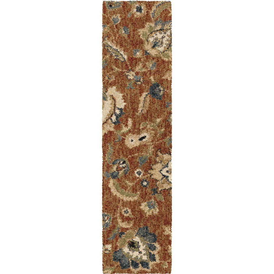 allen + roth Cliffony Red Indoor Nature Runner (Common: 2 x 8; Actual: 1-ft W x 7-ft L)
