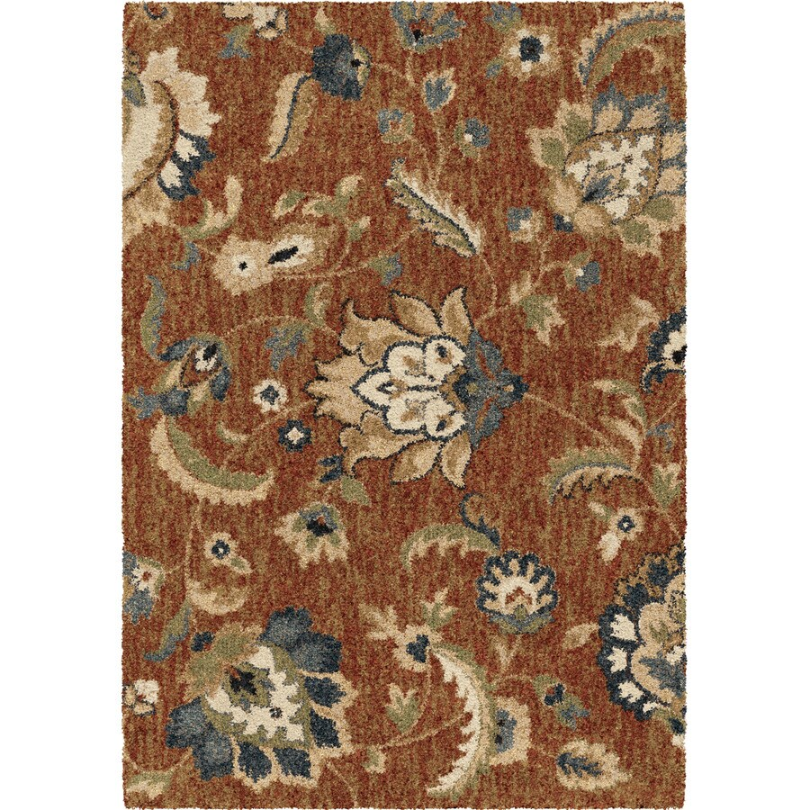 allen + roth Cliffony Red Rectangular Indoor Machine-made Nature Area Rug (Common: 5 x 7; Actual: 5-ft W x 7-ft L)