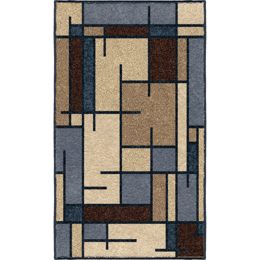 allen + roth Addington Liberty Blue Rectangular Indoor Machine-made Southwestern Throw Rug (Common: 2 x 3; Actual: 1-ft W x 3-ft L)