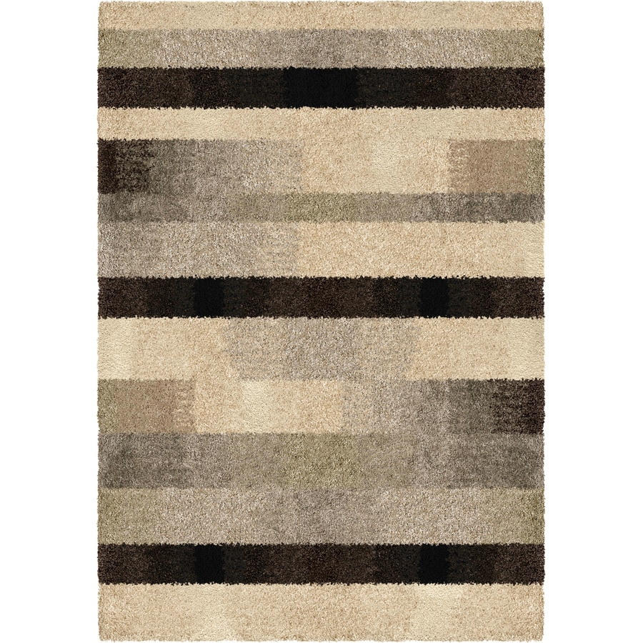 Orian Rugs Fading Panel Taupe Rectangular Indoor Machine-made Nature Area Rug (Common: 5 x 7; Actual: 5-ft W x 7-ft L)