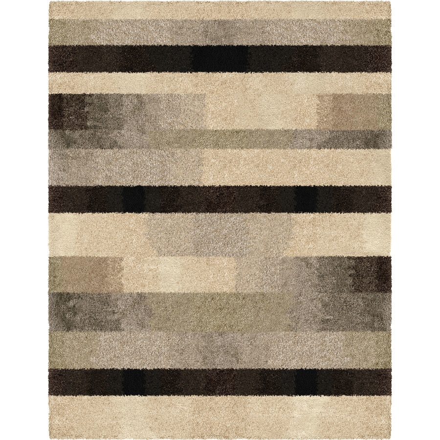 Orian Rugs Fading Panel Taupe Rectangular Indoor Machine Made Nature Area  Rug (Common: