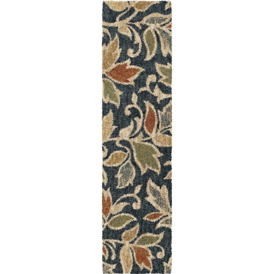 allen + roth Bressay Black Rectangular Indoor Machine-Made Nature Area Rug (Common: 2 x 8; Actual: 2-ft W x 8-ft L)