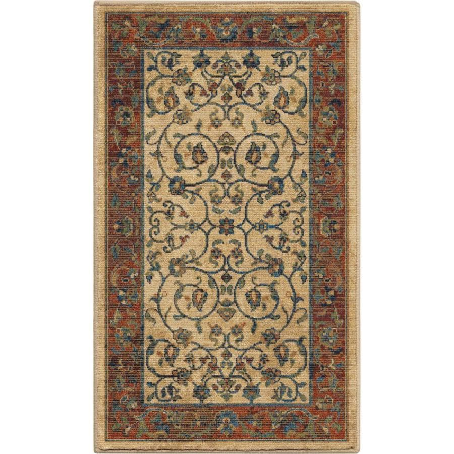 allen + roth Breelynn Off-White Indoor Oriental Area Rug (Common: 2 x 3; Actual: 2-ft W x 4-ft L)