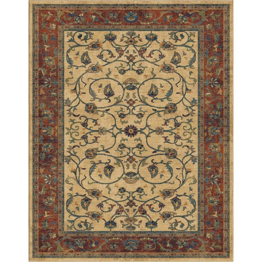 allen + roth Breelynn Off-White Indoor Oriental Area Rug (Common: 8 x 10; Actual: 8-ft W x 10-ft L)