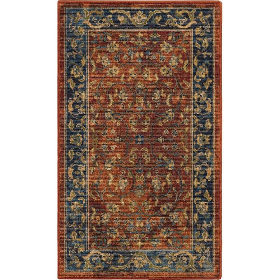 allen + roth 1-ft11-inx3-ft3-in Breelynn Red Area Rug