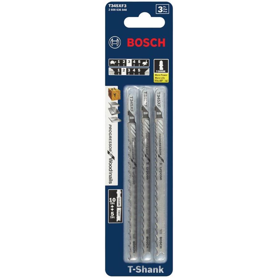 Shop bosch 3 pack 5 14 in t shank bi metal jigsaw blades at lowes bosch 3 pack 5 14 in t shank bi greentooth Choice Image