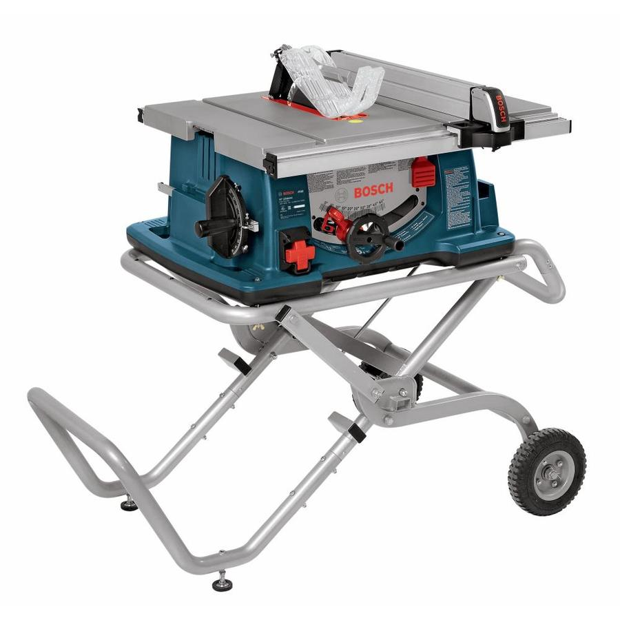 Shop table saws at lowes bosch 10 in carbide tipped 15 amp table saw greentooth