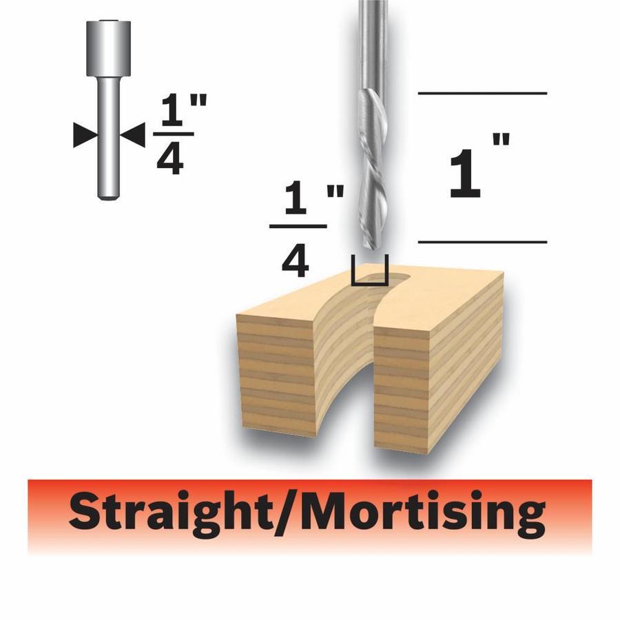 Bosch 1/4-in Carbide-Tipped Downcut Spiral Bit