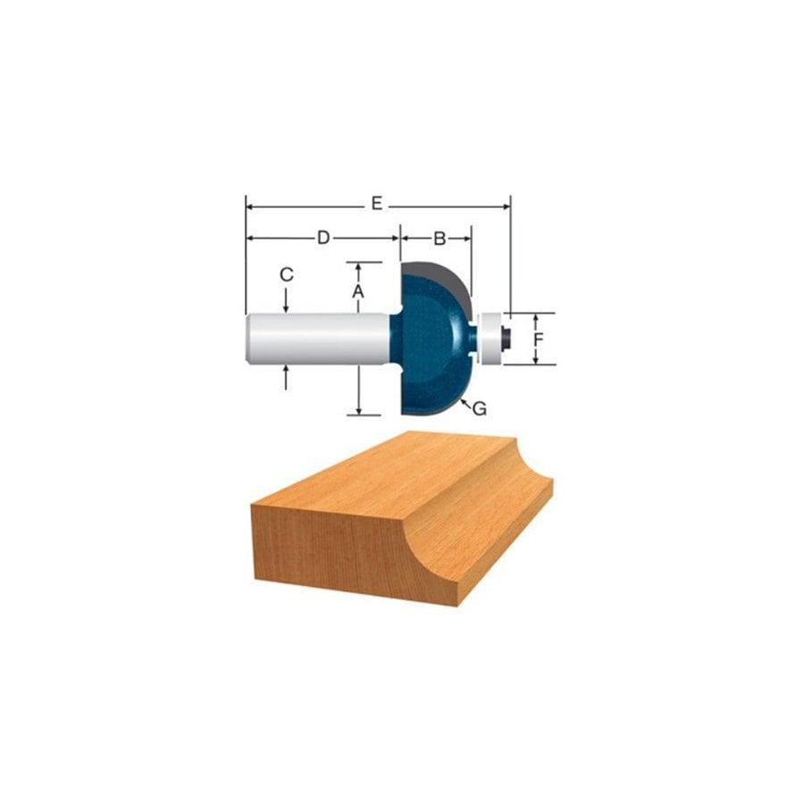 Bosch 3/8-in Carbide-Tipped Cove Bit