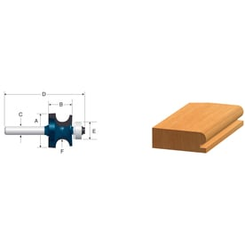 Bosch 1/8-in Carbide-Tipped Edge Beading Router Bit
