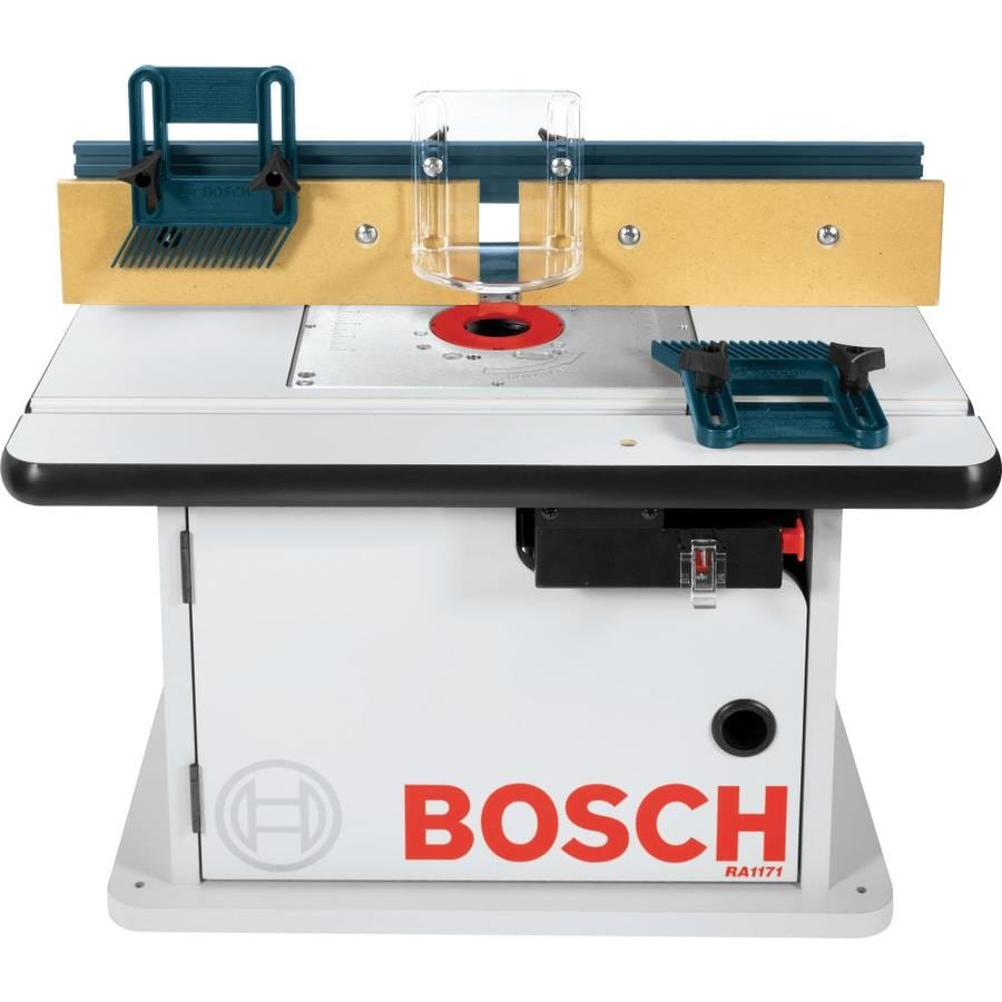 Shop bosch 15 7 8 in x 25 1 2 in adjustable router table for Router work table