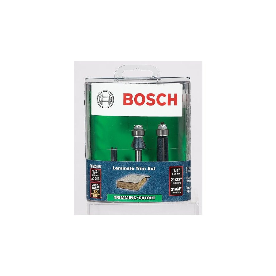 Bosch 3-Piece Double Flute Trimming Set