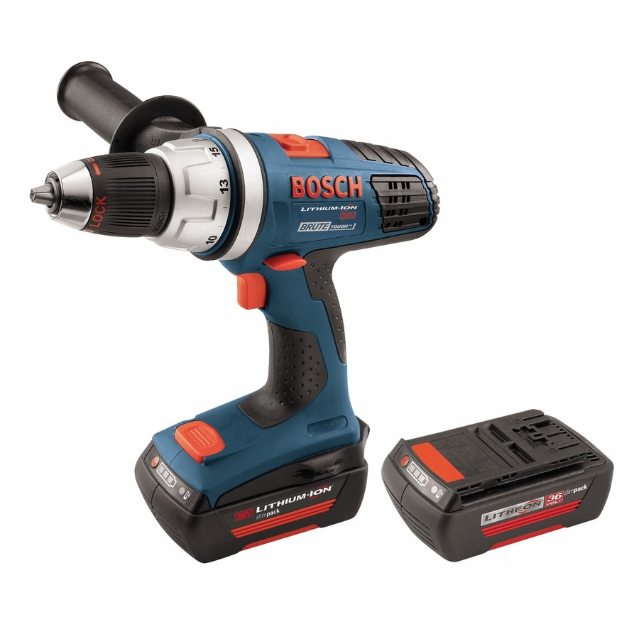 shop bosch 36 volt lithium ion li ion 1 2 in cordless drill battery and soft case included at. Black Bedroom Furniture Sets. Home Design Ideas