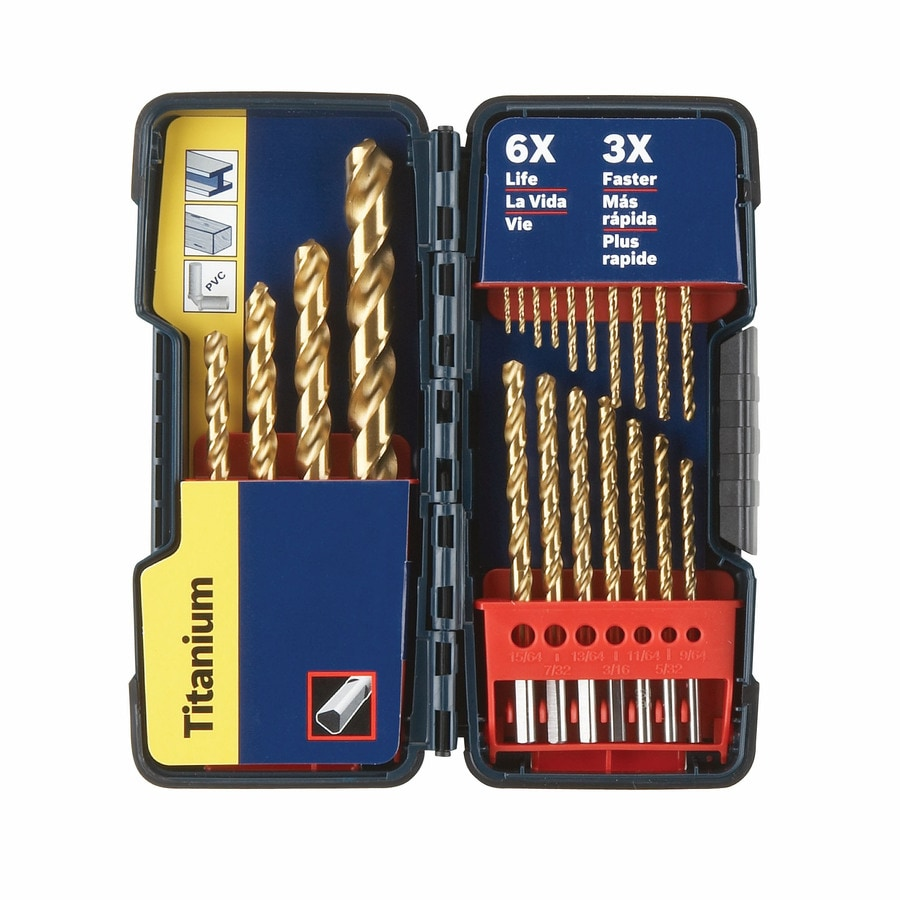 Bosch 21-Piece Titanium Drill Set