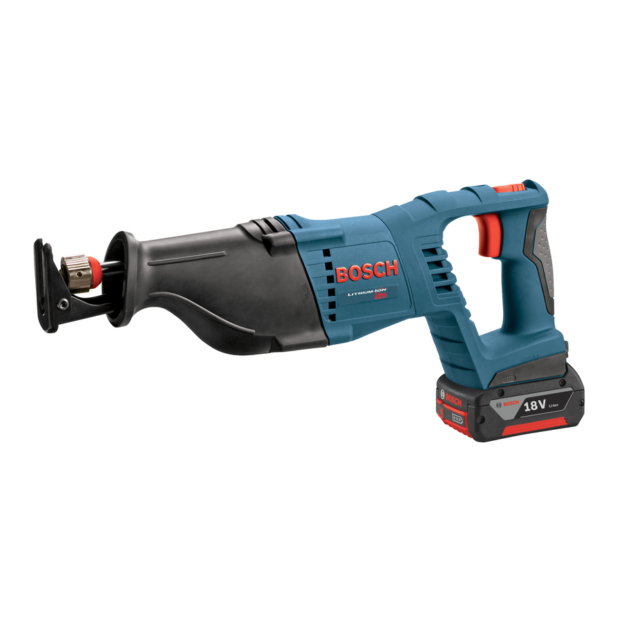 Bosch 18-Volt Variable Speed Cordless Reciprocating Saw with Battery