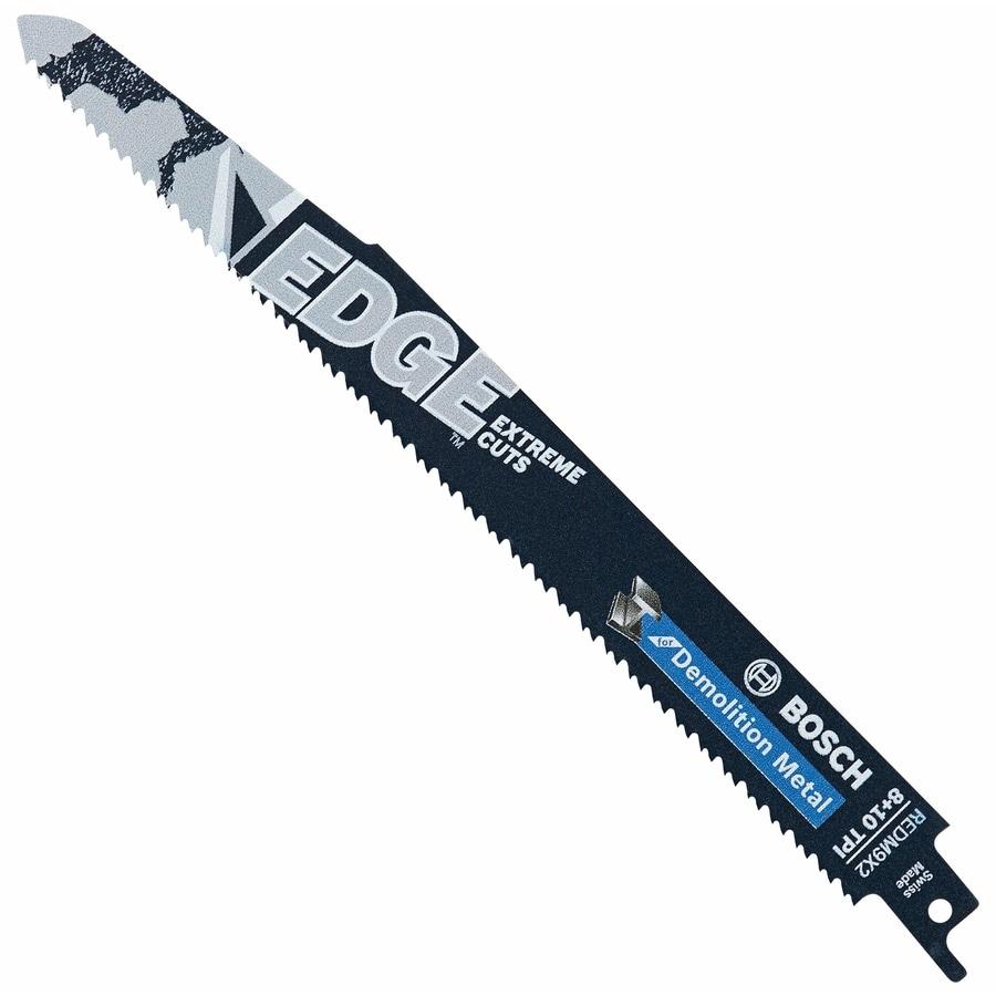 Bosch 9-in 8/10-TPI Bi-Metal Reciprocating Saw Blade