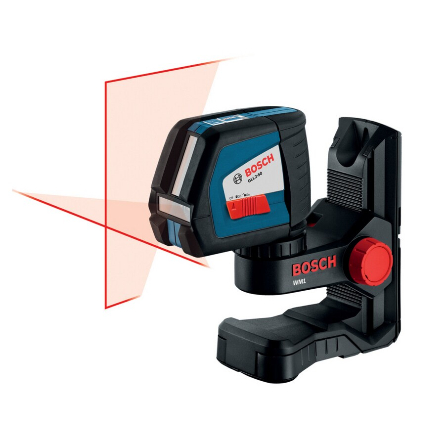 bosch 165-ft beam self-leveling cross-line laser level at lowes