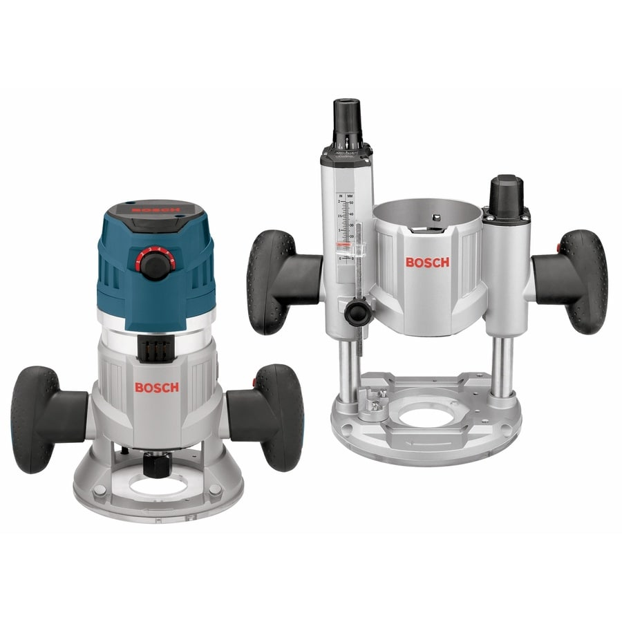 Shop routers at lowes bosch 23 hp variable speed combo fixedplunge corded router greentooth Images