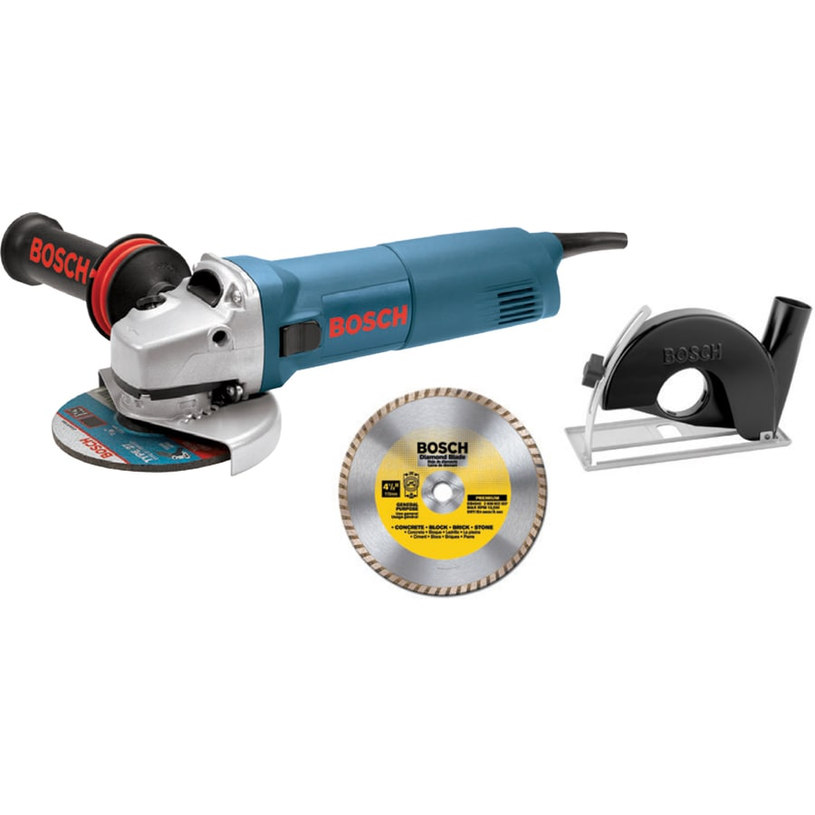 Bosch 4-1/2-in 7.5-Amp Sliding Switch Switch Corded Angle Grinder