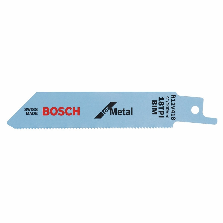 Shop bosch 5 pack 4 in 18 tpi bi metal reciprocating saw blade at bosch 5 pack 4 in 18 tpi bi metal reciprocating saw blade greentooth Choice Image