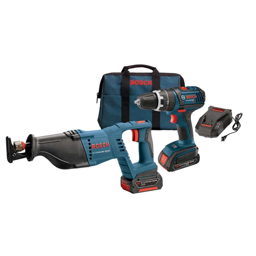 Bosch 18-Volt Lithium Ion Hammer Drill/Driver and Reciprocating Saw Kit