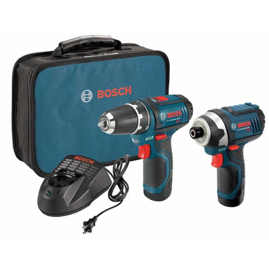 Bosch 2-Tool 12-Volt Max Lithium Ion (Li-ion) Brushed Motor Cordless Combo Kit with Soft Case