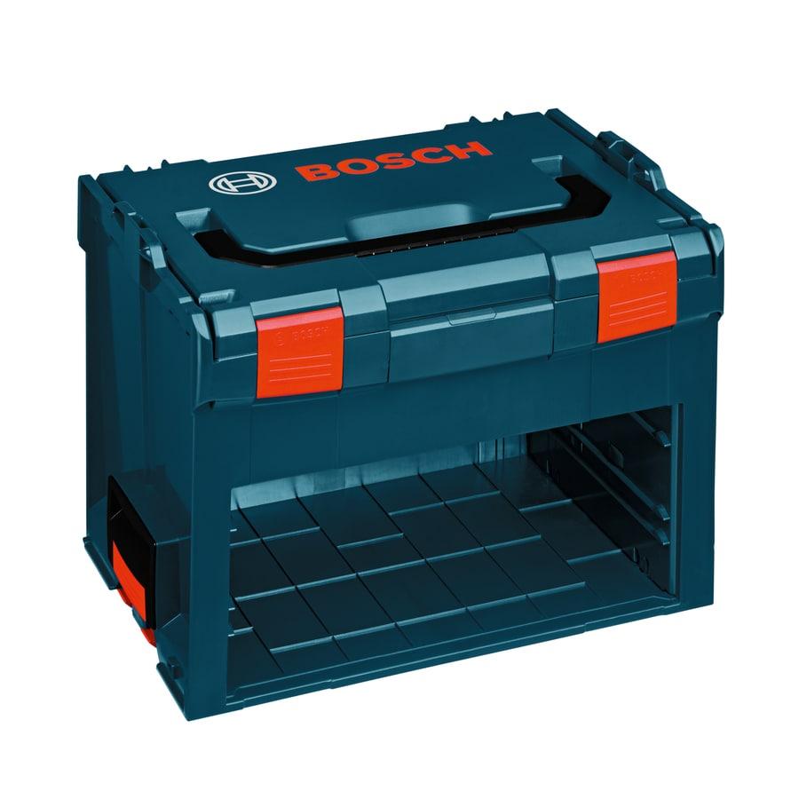Bosch 17.25-in 2-Drawer Blue Plastic Lockable Tool Box