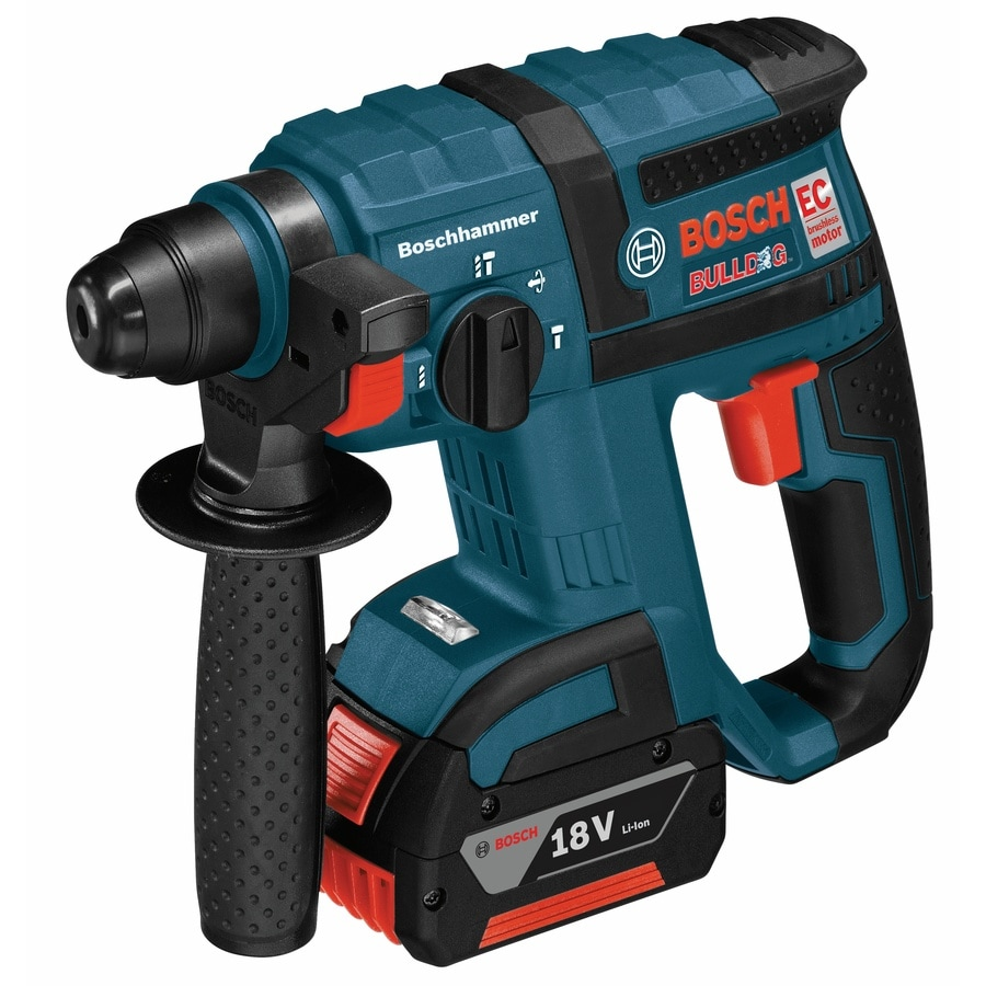 Bosch 2 18-Volt Lithium Ion (Li-ion) 3/4-in Sds-Plus Variable Speed Cordless Rotary Hammer with Soft