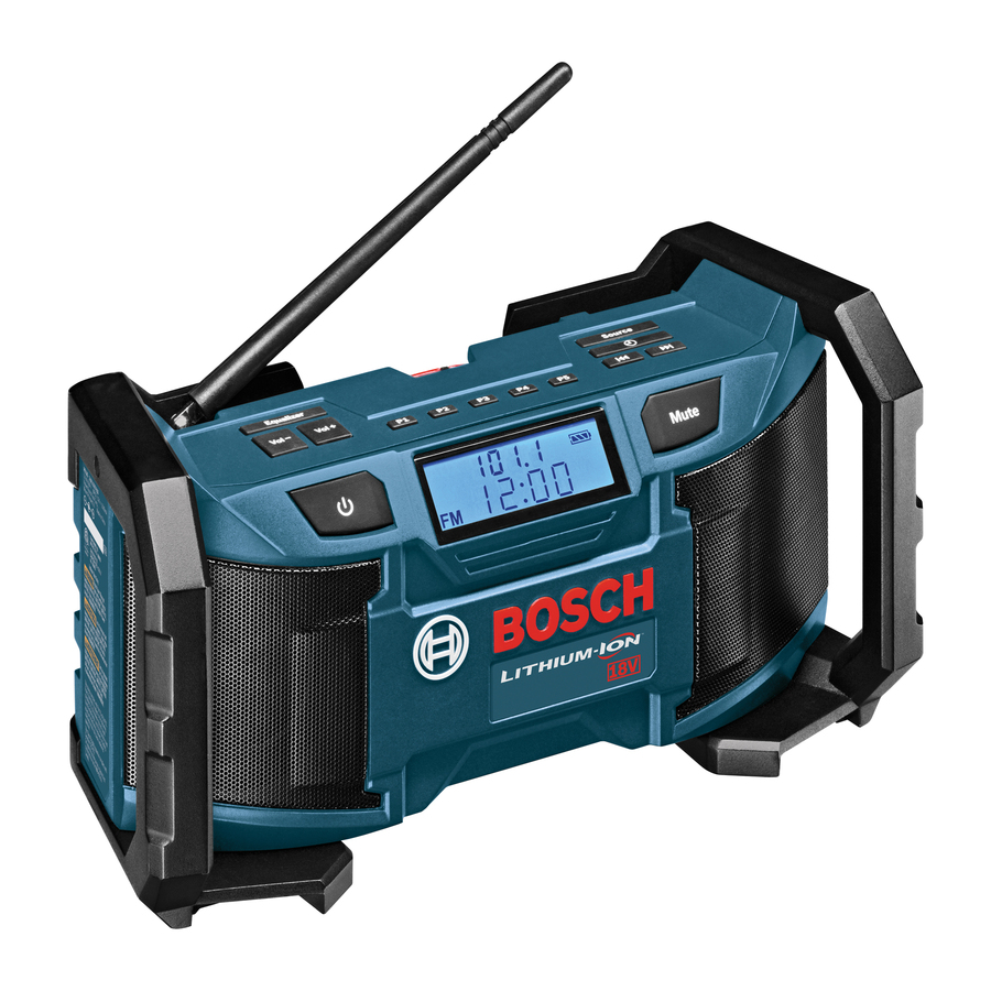 Bosch Water Resistant Jobsite Radio