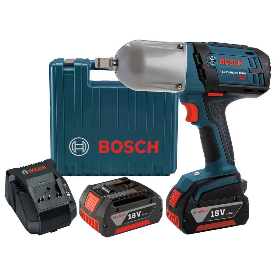 shop bosch 18 volt 1 2 in square drive cordless impact wrench 2 batteries included at. Black Bedroom Furniture Sets. Home Design Ideas