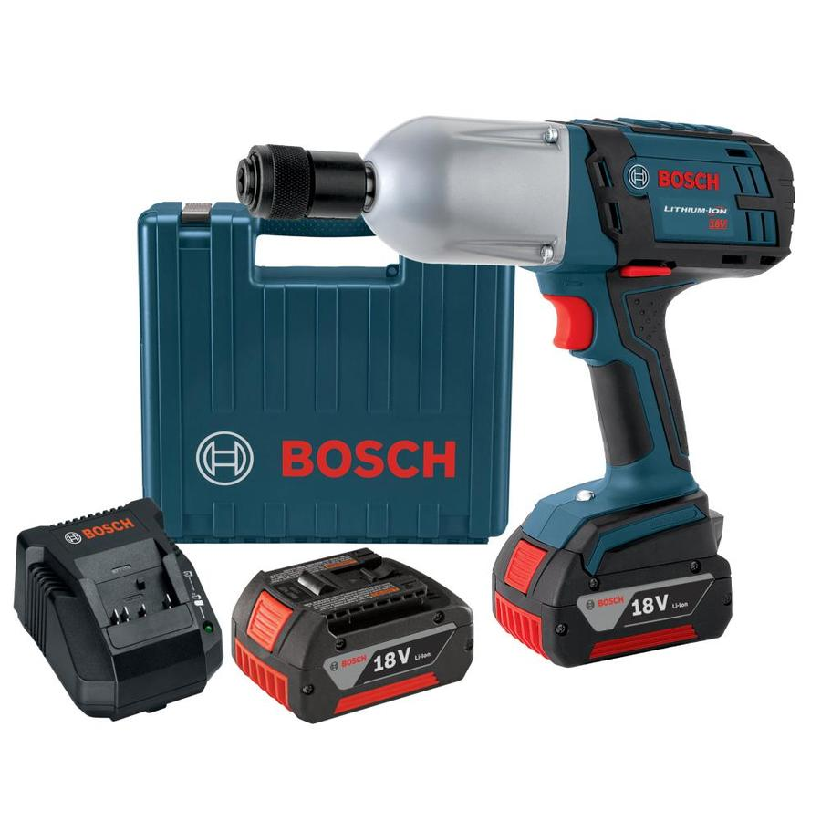 Bosch 18-Volt 7/16-in Drive Cordless Impact Wrench (2 Batteries Included)