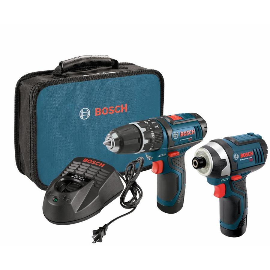 Bosch 2-Tool 12-Volt Max Lithium Ion (Li-ion) Cordless Combo Kit with Soft Case