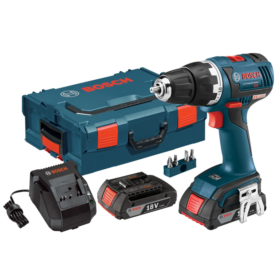 Bosch Brushed 18-Volt Lithium Ion (Li-ion) 1/2-in Cordless Drill with Battery and Hard Case
