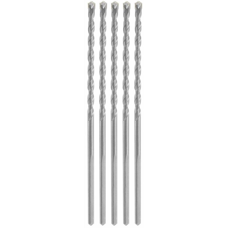 Bosch 3/16-in x 6-in -in Round Hammer Drill Bits 5-Count
