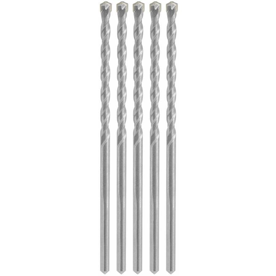 Bosch 1/4-in x 6-in -in Round Hammer Drill Bits 5-Count