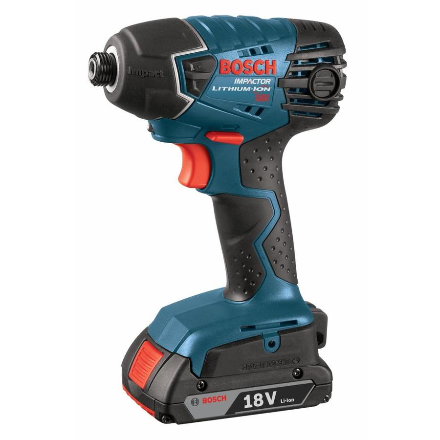 Bosch 18-Volt Lithium Ion (Li-ion) 1/4-in Cordless Variable Speed Impact Driver with Soft Case