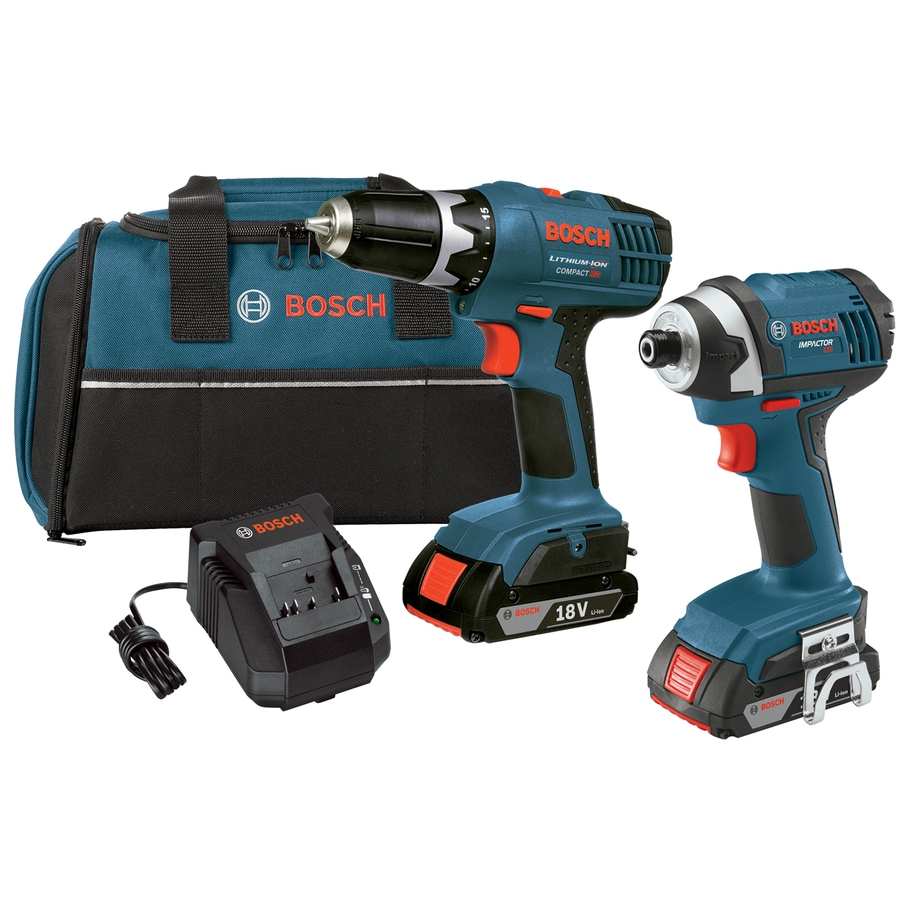 shop bosch 2 tool 18 volt lithium ion cordless combo kit with soft case at. Black Bedroom Furniture Sets. Home Design Ideas
