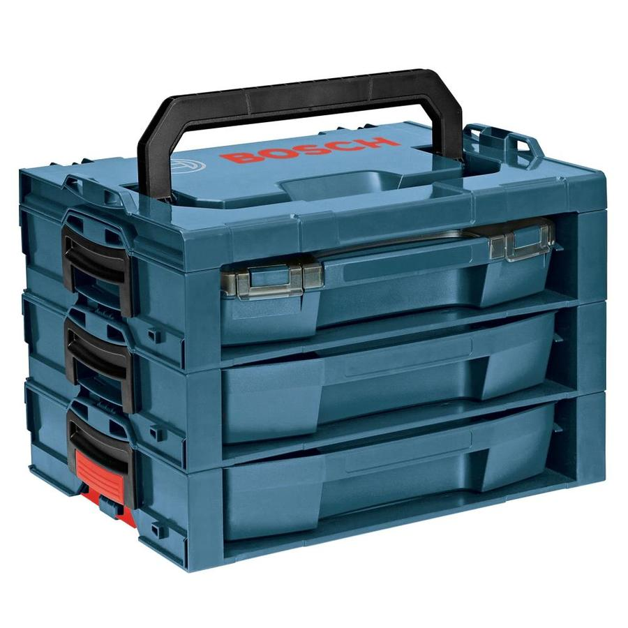 Bosch 17.25-in 3-Drawer Blue Plastic Tool Box
