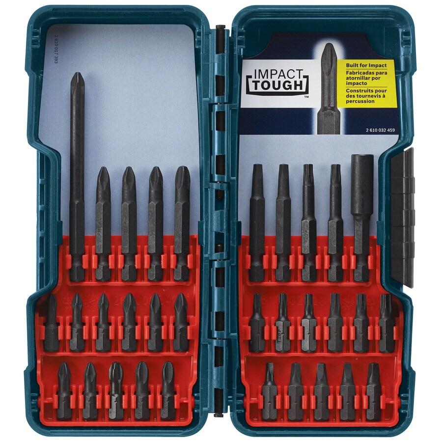 shop bosch 32 piece screwdriver bit set at. Black Bedroom Furniture Sets. Home Design Ideas
