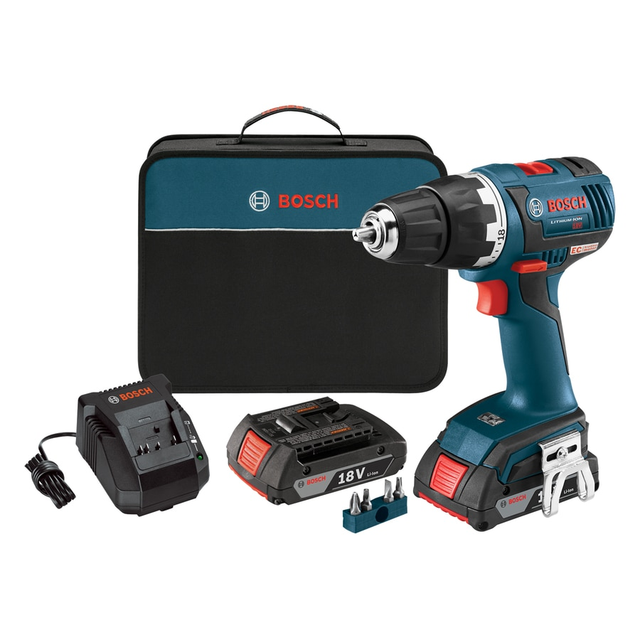 Bosch 18-Volt Lithium Ion 1/2-in Cordless Brushless Drill with Battery and Soft Case