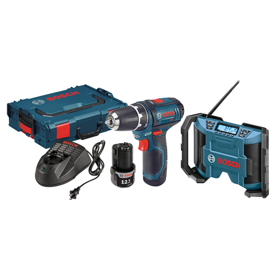 Bosch 12-Volt Lithium Ion (Li-ion) 3/8-in Cordless Drill with Battery and and Hard Case